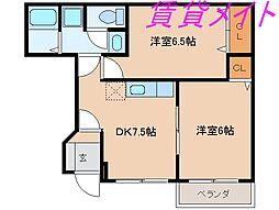 ラ・フェイバー・プロムナードA・B・C棟[1階]の間取り