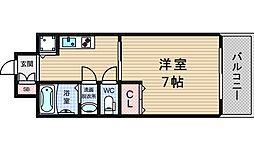 レインボーコート立売堀[6階]の間取り