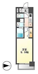 リシュドール鶴舞公園[6階]の間取り
