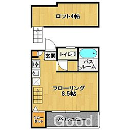 エクシード筥松[2階]の間取り