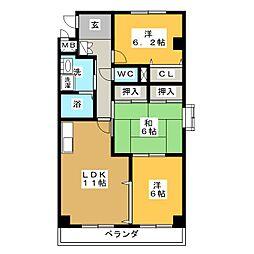 パストラルグリーン[2階]の間取り