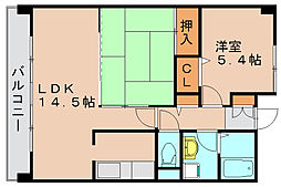 フェリーチェ原田Ⅱ[3階]の間取り