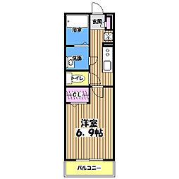 リブリ・エスクード[3階]の間取り