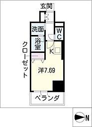 ベレーサ築地口ステーションタワー[4階]の間取り