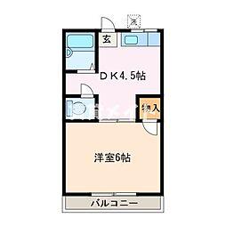 ゆうらくハイツ[1階]の間取り