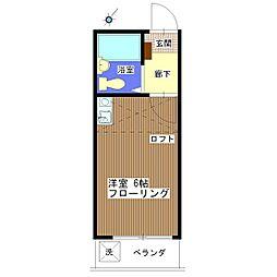 ブランシェ松波[A-203号室]の間取り