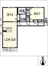 サンセールII[2階]の間取り