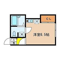 M-フラット[2階]の間取り