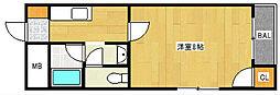 アベニューサザンプラム[2階]の間取り