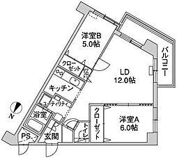 北海道札幌市白石区南郷通2丁目北の賃貸マンションの間取り
