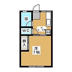 シティハイム東花I[1階]の間取り