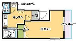 福岡県福岡市早良区弥生1丁目の賃貸アパートの間取り
