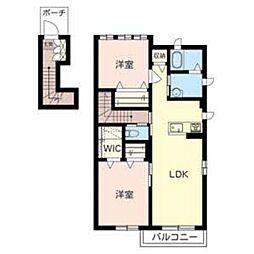 サニーサイド南紀寺II[2階]の間取り