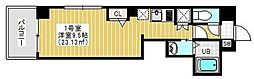 東京メトロ日比谷線 三ノ輪駅 徒歩3分の賃貸マンション 8階1Kの間取り