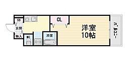 大阪府高石市高師浜4丁目の賃貸マンションの間取り