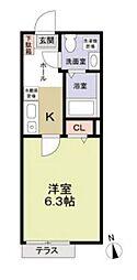 神奈川県横浜市港南区最戸1丁目の賃貸アパートの間取り