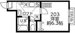 東京都狛江市猪方4丁目の賃貸アパートの間取り