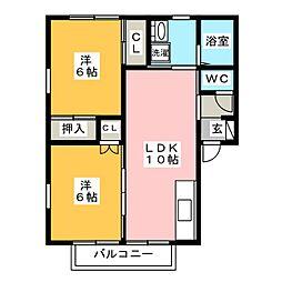 MON箱崎[2階]の間取り