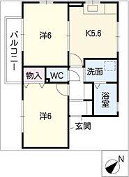 フィオーレ藤塚[2階]の間取り