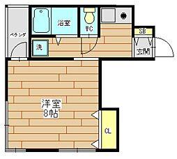 T's SQUARE akutagawa(ティーズスクエア芥[3階]の間取り