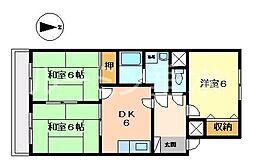 JOYハイツ[1階]の間取り