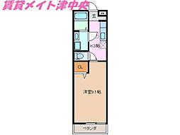 三重県津市久居野村町の賃貸アパートの間取り