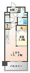 パークレジデンス江坂[8階]の間取り
