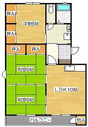 松島パークサイドビル[302号室]の間取り