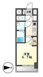 プレサンス名古屋STATIONルミアス[9階]の間取り