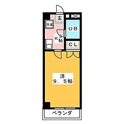 AZALEA2号館[4階]の間取り