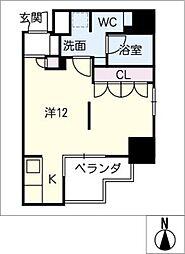 DOMUS&PLEASURE[7階]の間取り