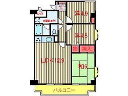 ラ・フォレ薬円台[506号室]の間取り