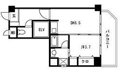 ハイブリッジ六本松[2階]の間取り