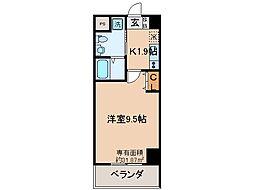 京阪本線 伏見桃山駅 徒歩7分の賃貸マンション 7階1Kの間取り