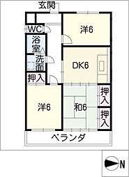 サンヴィレッジSTII[3階]の間取り