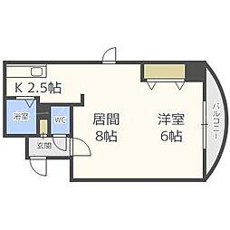 北海道札幌市中央区南一条西11丁目の賃貸マンションの間取り