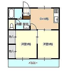 ハイツ青柿 B[1階]の間取り