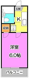東京都練馬区上石神井3丁目の賃貸アパートの間取り