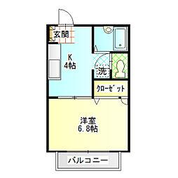 コンフォール・ユウ[1階]の間取り