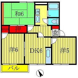 クレスト篠籠田[2階]の間取り