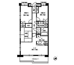 ハイツ甲四公園[5階]の間取り