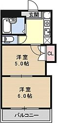 プリマベーラ西京極[302号室号室]の間取り