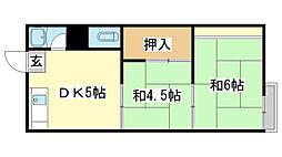 東辻井アパート[1-2号室]の間取り