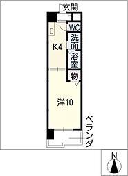 パレスサイド泉[2階]の間取り