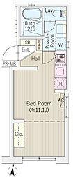 KURA神楽坂 1階ワンルームの間取り