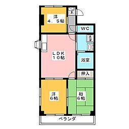 コンフォート粟野[2階]の間取り