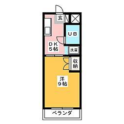 セリバテール[2階]の間取り