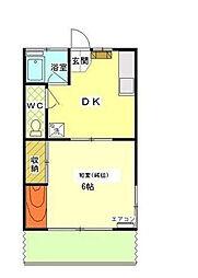 コーポヤシマ[1階]の間取り