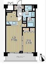 エミリブ鷺ノ宮[1階]の間取り