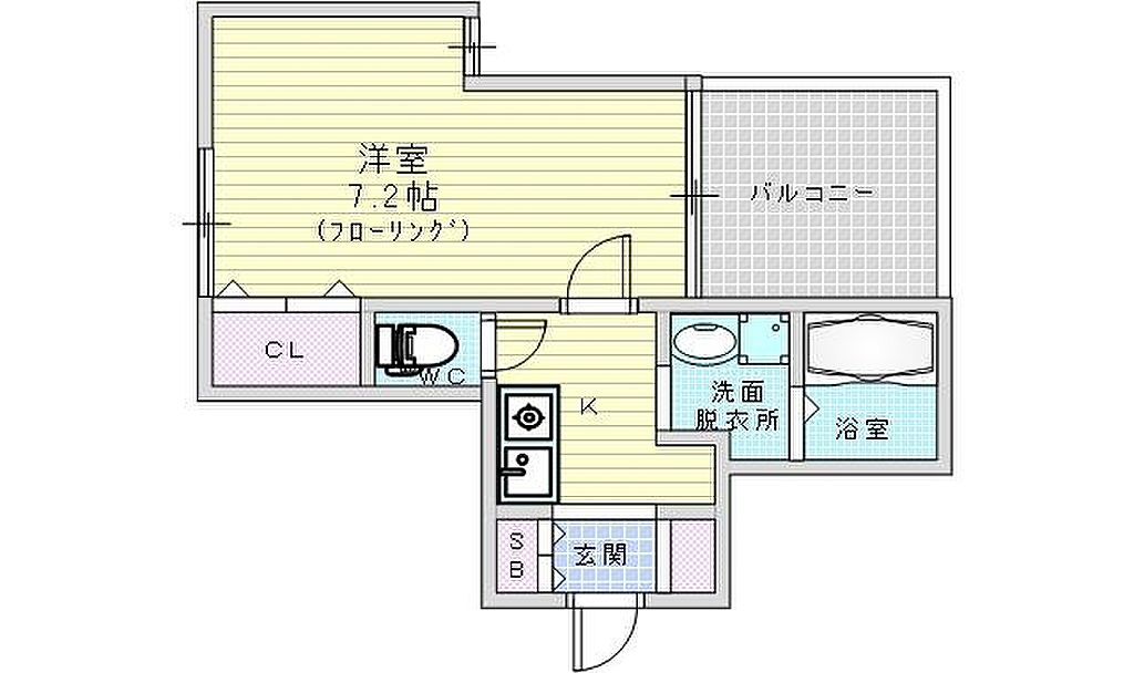 間取り(大阪市北区万歳町 ディー・シモンズ梅田)